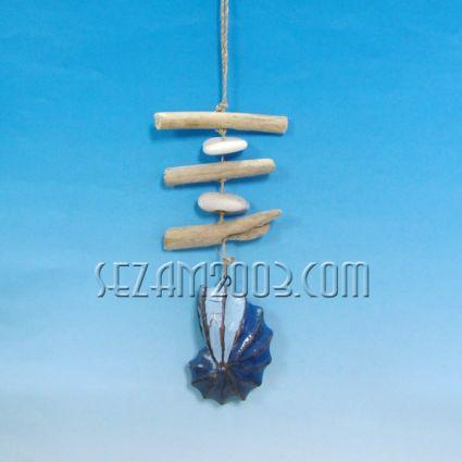 Висулка раковина - вятърна въретележка от дърво
