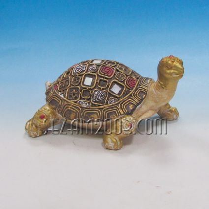 Turtle of polyresin - decorated