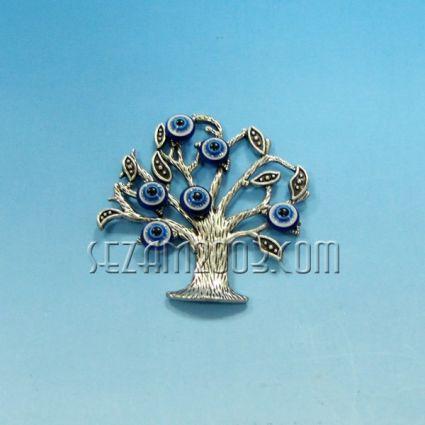 Дърво на живота+назар - магнит за хладилник от метал