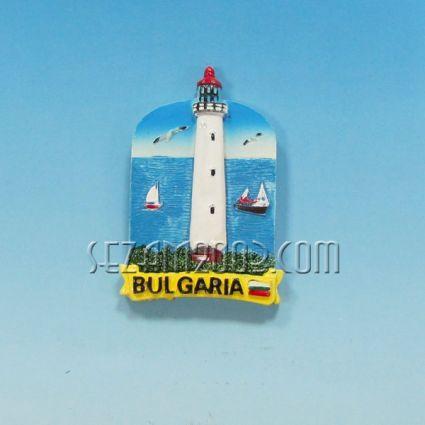 Магнит за хладилник от полирезин ФАР с релефна картинка и надпис България.