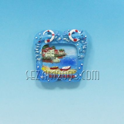 Магнит за хладилник от полирезин ДЖАПАНКИ с релефна картинка и надпис България.