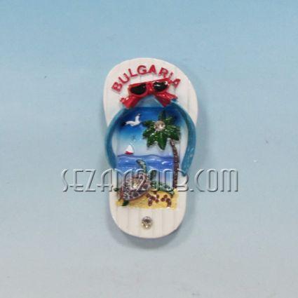 Магнит за хладилник от полирезин ДЖАПАНКА с релефна картинка и надпис България.