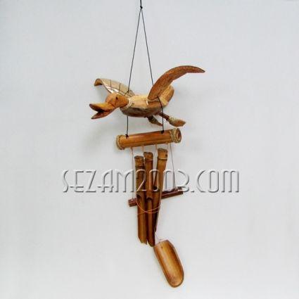 Вятърен звънец бамбук и дърво -ПАТИЦА