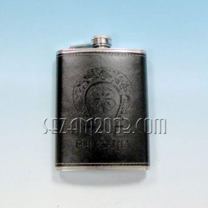 Бутилка за алкохол метална+БГ