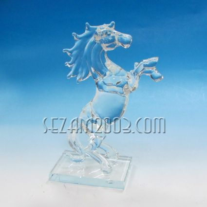 Horse glass of crystal holder