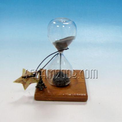 Пясъчен часовник от дърво,стъкло и магнитен прах