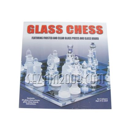 Chess  of glass.