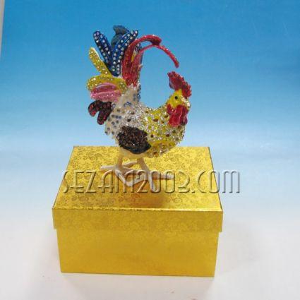 ПЕТЕЛ-метален сувенир/кутийка за бижута с камъни