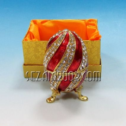 Яйце - метална фигурка/кутия+камъни