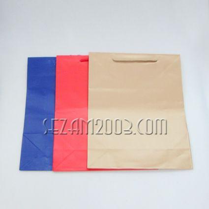 подаръчни торбички гланцова хартия ЕДНОЦВЕТНИ