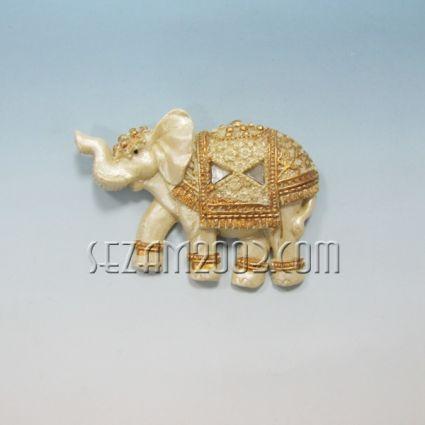 Elephant decorated - refrigerator magnet from polirezin