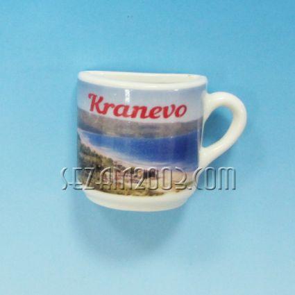 Чашка 1/2 от порцелан магнит за хладилник - Кранево