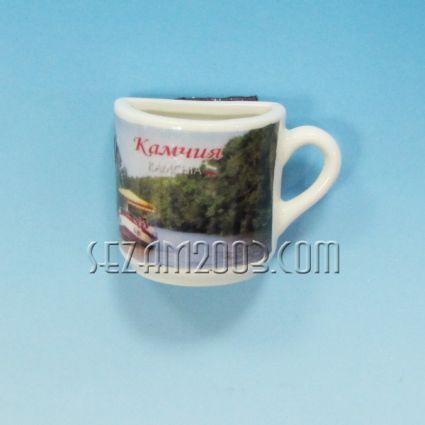 Чашка 1/2 от порцелан магнит за хладилник - Камчия