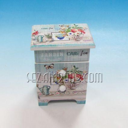 Кутия за бижута с огледало и чекмеджета от мдф
