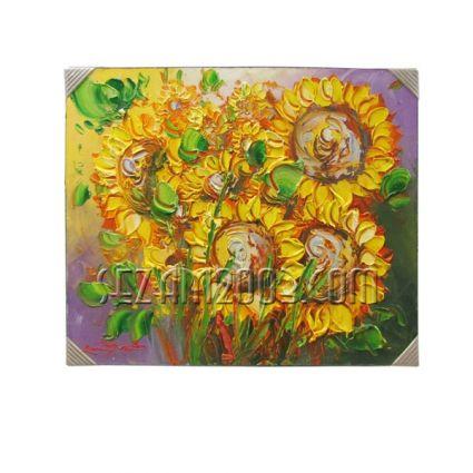 Слънчогледи - картина масло ръчно рисувана