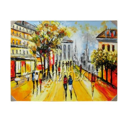 Европа улица 2 - картина масло ръчно рисувана