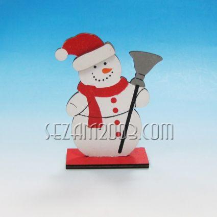 Коледна фигурка - Снежко/ Дядо Коледа от дърво