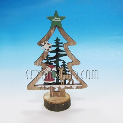 Коледна фигурка - Снежко/ Елха от дърво