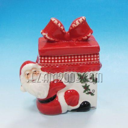 Коледна купа с капак от керамика