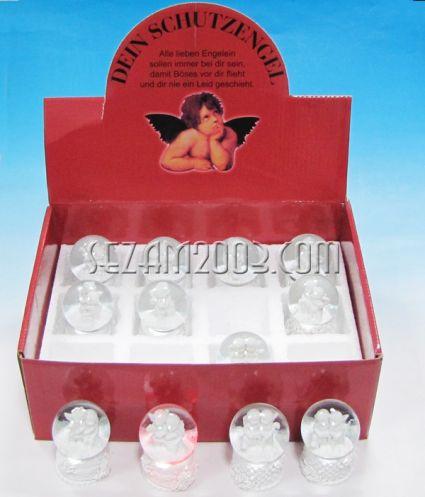 Преспапие от полирезин в търговска кутия - АНГЕЛЧЕ с лампички