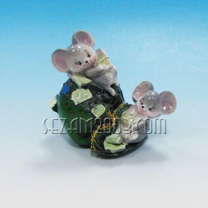 Мишки 2-ка в чувал+парички-фигура резин