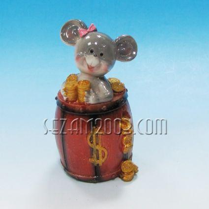 Мишка в буре +парички-фигура резин