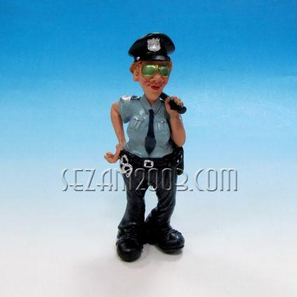 Police - funny figure resine