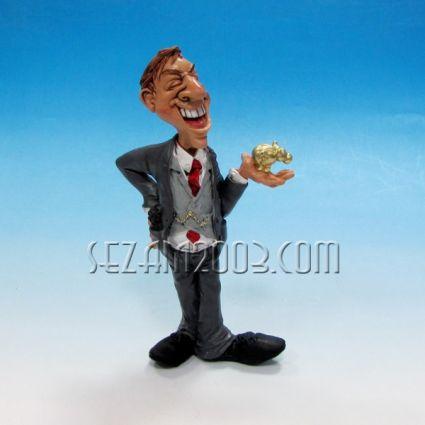Businessman - funny figure resine