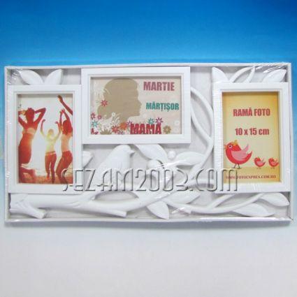Рамка за три снимки  / стенно пано от пластмаса