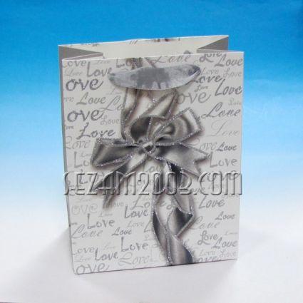 Подаръчна торбичка  от лукс хартия с брокат- ПАНДЕЛА