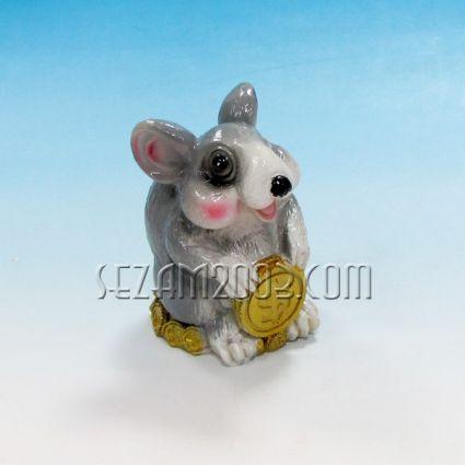 Мишка  с парички касичка от резин