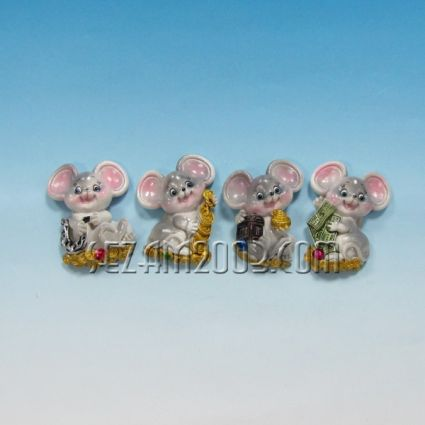 Мишка   магнит за хладилник от резин