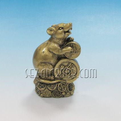 Мишка фигура фън шуй от резин