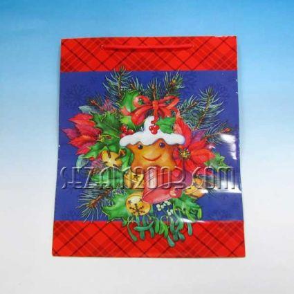 Подаръчна торбичка от гланцирана хартия с Коледен декор