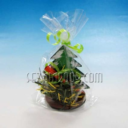 Коледно късметче  с пожелания от дърво и декорация