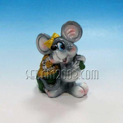 Мишка касичка - фигура от резин