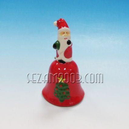 Коледно звънче от керамика - декорирано
