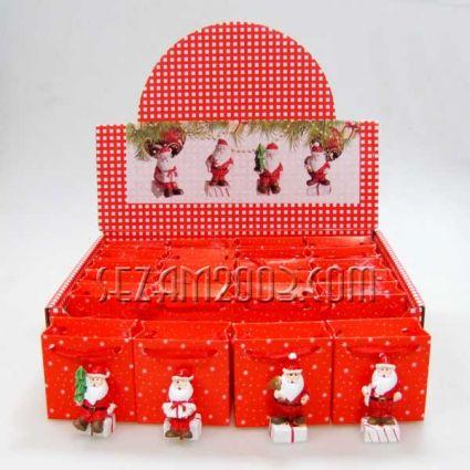 Коледна фигурка от резин в подаръчна торбичка
