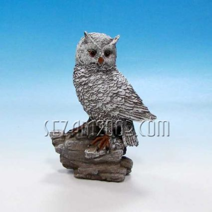 Owl  - figure of polyresin resin