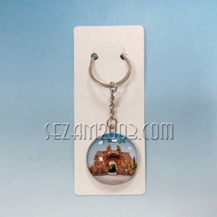 Ключодържател метал и масивно стъкло - Хисаря
