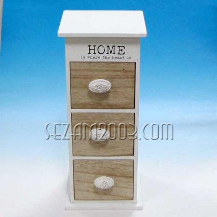 Кутия с 3 чекмеджета - HOME -  настолна декорирана