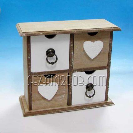 Кутия с 4 чекмеджета  -  настолна декорирана