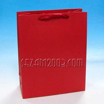 Подаръчна торбичка от лукс хартия едноцветна
