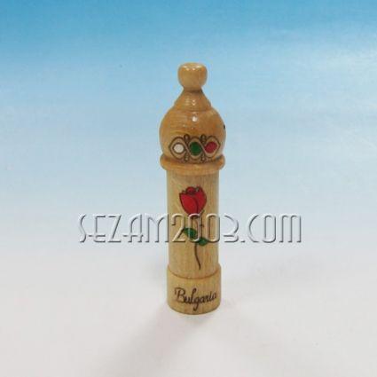 МУСКАЛ от дърво с картинка и фиолка с розова вода + надпис БЪЛГАРИЯ