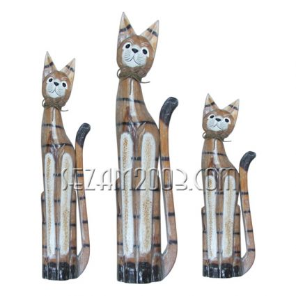 CATS of wood 3 pieces set
