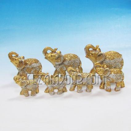 Слончета от резин 7 бр.к-т декорирани