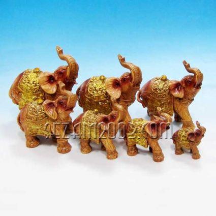 Слончета от резин 7 броя комплект декорирани