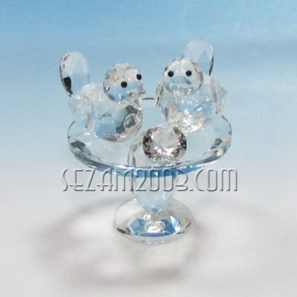 crystal glass figure