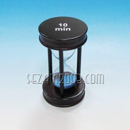 Пясъчен часовник - сувенир от дърво ,стъкло и пясък - 10мин