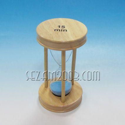 Пясъчен часовник от дърво и стъкло-15 мин.